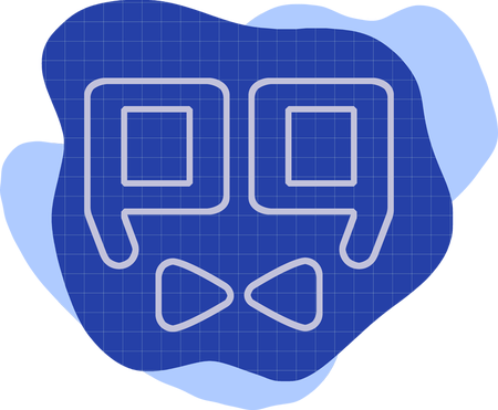 Polished Geek icon - blueprint style