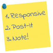 Responsive Post-it Note Module